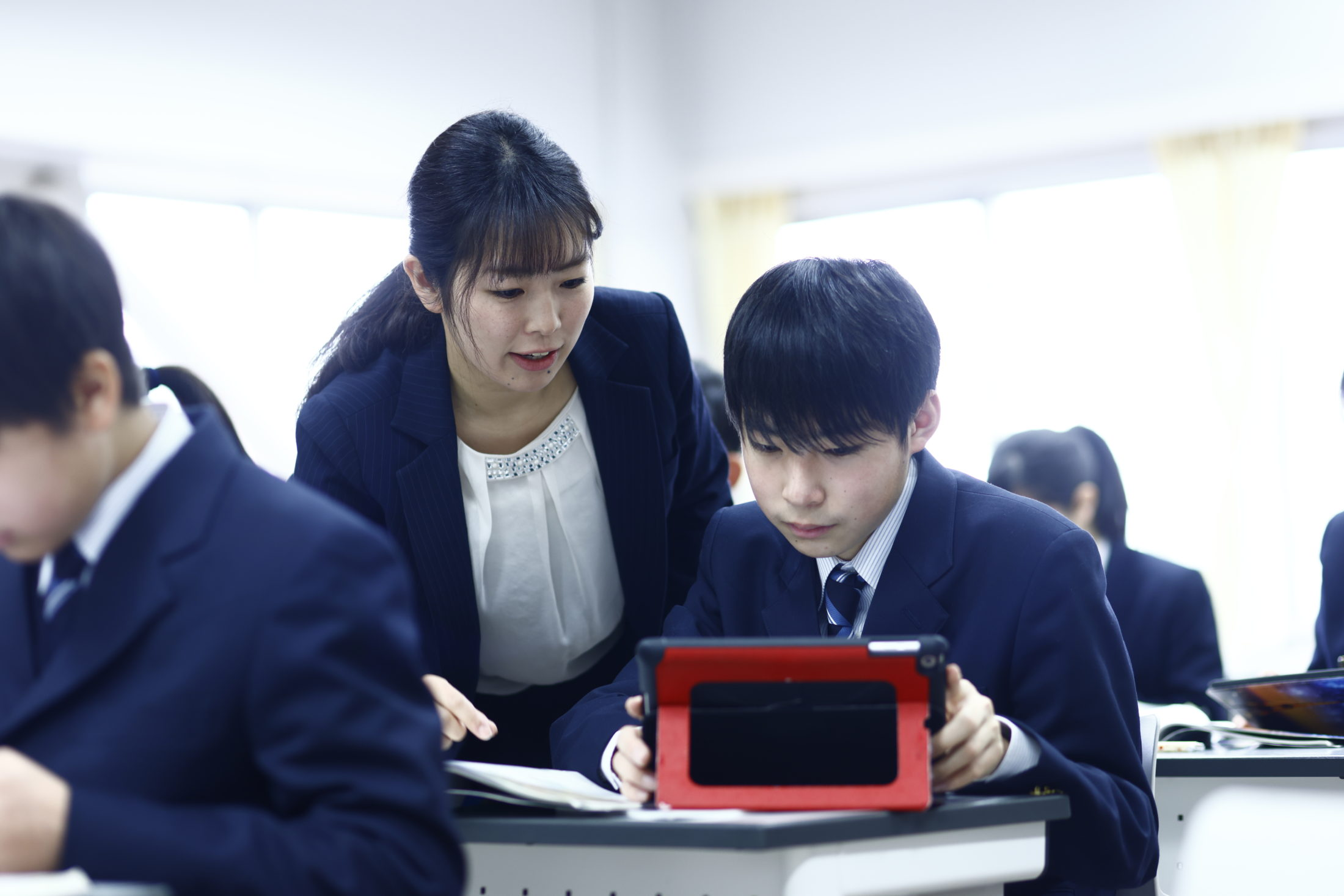 授業や放課後講座でiPadは大活躍です