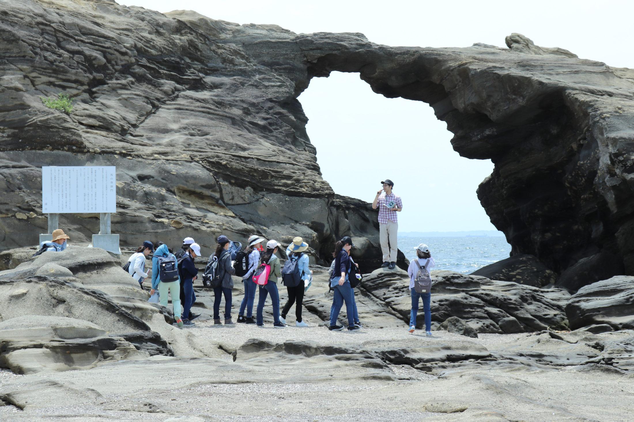 三浦半島最南端の城ヶ島で海蝕洞穴『馬の背洞門』を見学。自然の悠久な営みを直に感じます